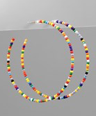 Load image into Gallery viewer, Beaded Hoops