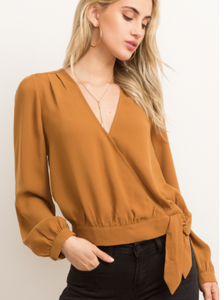 Tiffany Wrap Blouse