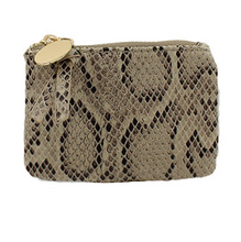 Load image into Gallery viewer, Snake Skin Coin Pouch