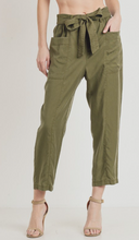 Load image into Gallery viewer, Aulara Tie Pants Olive