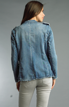 Load image into Gallery viewer, Ahlia Military Denim Jacket