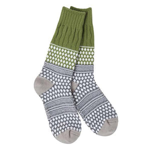 Worlds Soft Textured Crew Socks