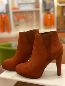 Rust Heeled Booties