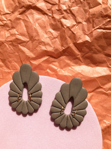 Marie Earrings - Moss