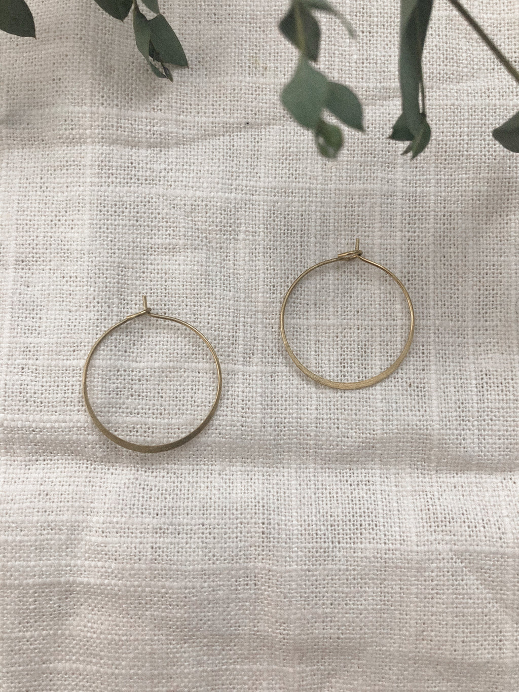 Simple Brass Hoops - Indiecords.co - Clay Polymer Earrings