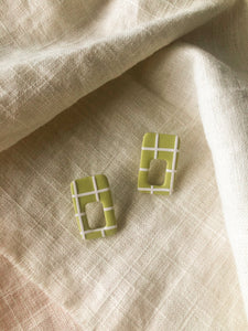 Grid Studs in Chartreuse