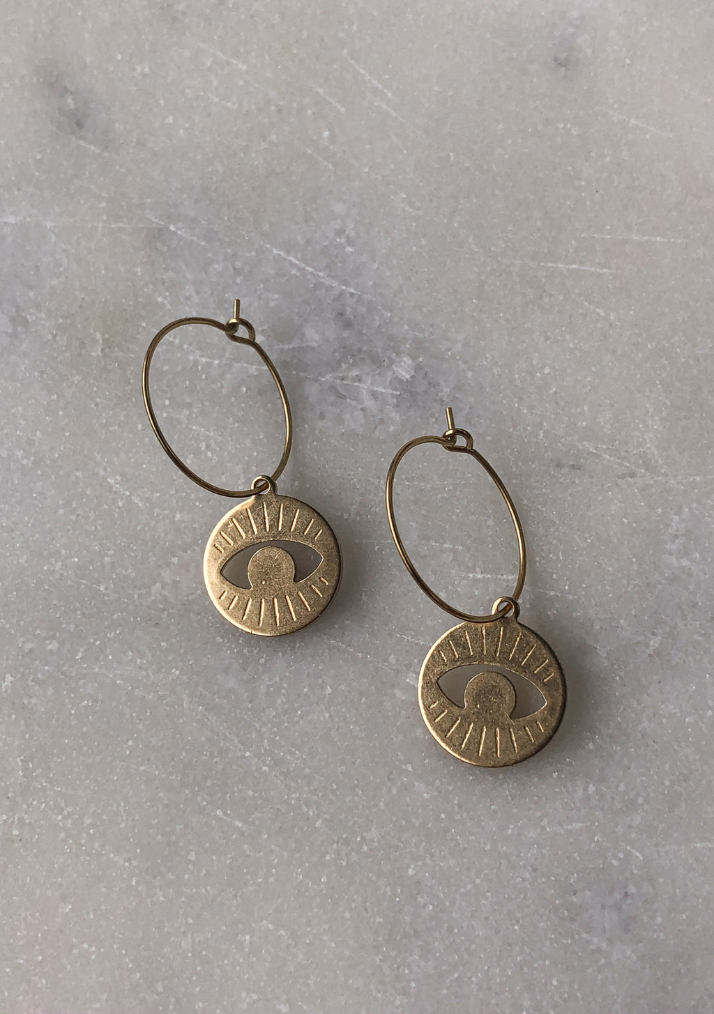 Minimalistic Ocular Mini Hoops - Indiecords.co - Clay Polymer Earrings