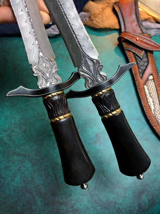 Nightblade Damascus Steel Collector's Dagger