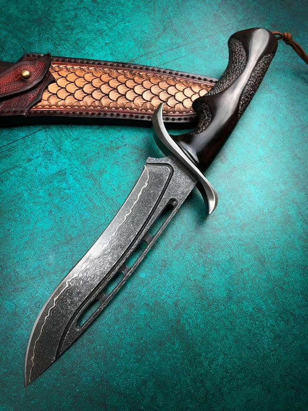 Black Pearl Damascus Steel Outdoor Knife