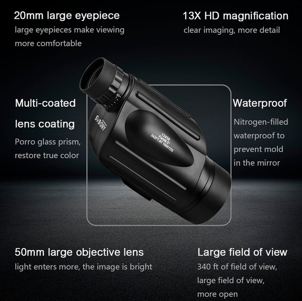 High-Powered Professional 13x50 Monocular