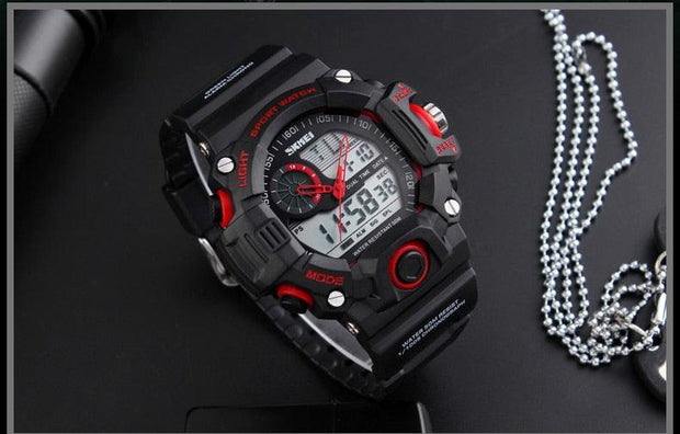 50M Waterproof Tactical Outdoor Sports Watch