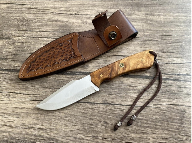 Handmade Olive Handle Bushcraft Knife