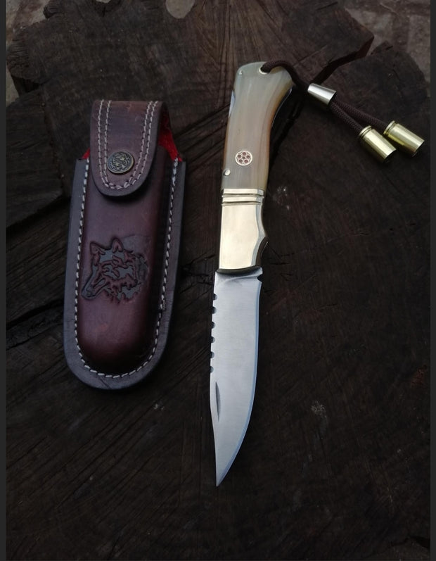 Horn of Aries Pocket Knife