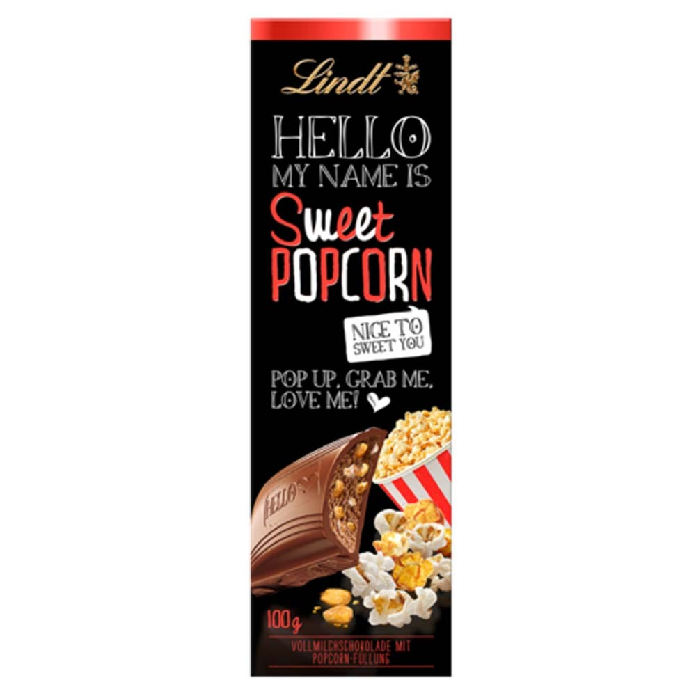 Chocolate Lindt Hello My Name Is Sweet Popcorn