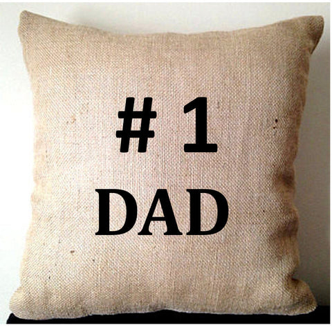 20% OFF Sale Birthday gift ideas for men, Gift for him Fathers Day, Dad Burlap Pillows, Birthday Gift for him, 16x16, 18x18, 20x20 Rustic De
