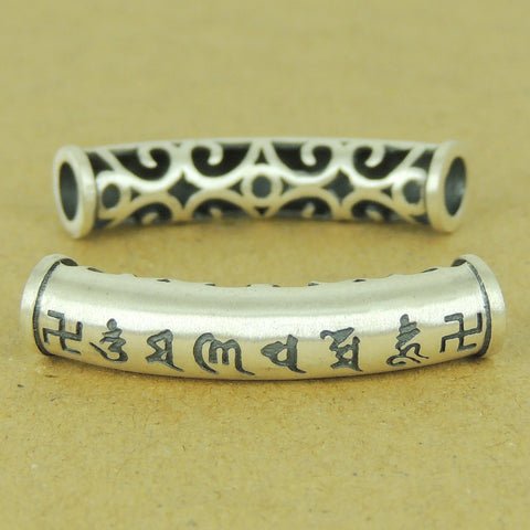 1 PCS 990 Stamp Sterling Silver OM Charm Buddhism WSP491 Wholesale: See Discount Coupons in Item Details