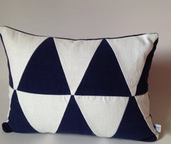30% OFF Sale Upcycle Geometric navy white pillow, Abstract navy white lumbar cotton pillows, abstract pillows, sofa pillows