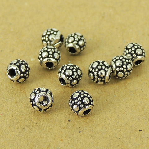 10 PCS 925 Sterling Silver Barrel Beads Vintage WSP444X10 Wholesale: See Discount Coupons in Item Details