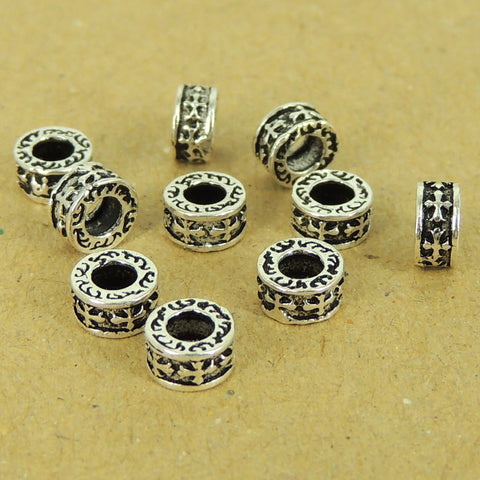 10 PCS 925 Sterling Silver Cross Spacers Vintage Celtic Jewelry Making Wholesale Retail WSP445X10