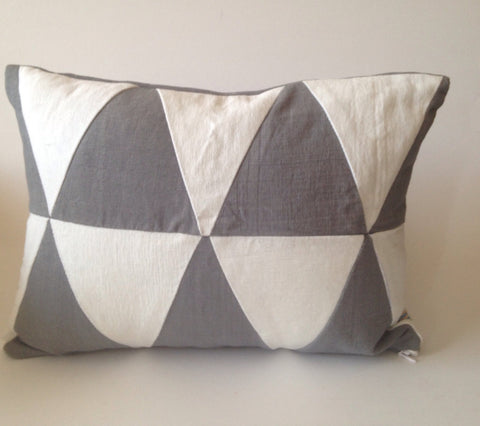 30% OFF Sale Upcycle Geometric Gray white pillow, Abstract gray white lumbar cotton pillows, Novelty abstract pillows, sofa pillows
