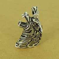 1 PCS 925 Stamp Sterling Silver Wolf Head Pendant DIY Jewelry Making WSP506 Wholesale: See Discount Coupons in Item Details