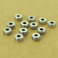 12 Pcs Sterling Silver Spacers Vintage DIY Jewelry Making WSP518X12 Wholesale: See Discount Coupons in Item Details