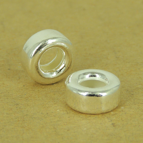 2 Pcs 925 Sterling Silver Spacers Vintage DIY Jewelry Making WSP532X2 Wholesale: See Discount Coupons in Item Details
