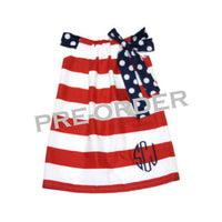 4th of July Pillowcase Dress, Patriotic Dress, Fourth of July Dress, Girls 4th of July Outfit, Independence Day Dress