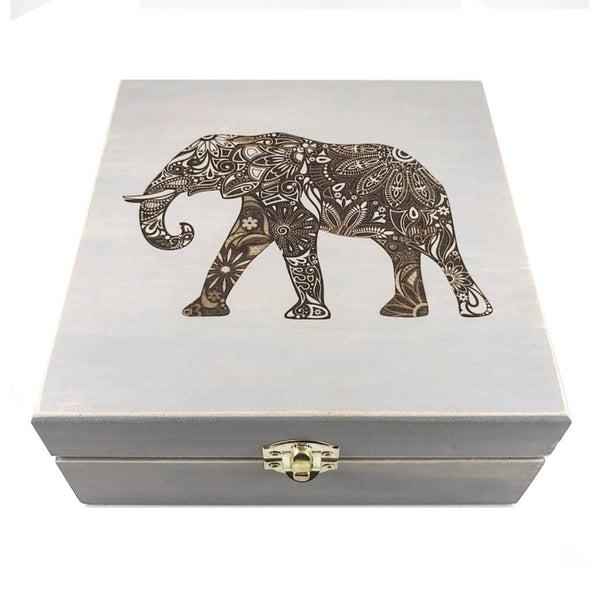 Spirit Animals Boxes - Essential Oil Storage Box 25 Slot 15ml - Pine - Choose Finish and Custom Laser Engravings - Fit dōTERRA Young Living