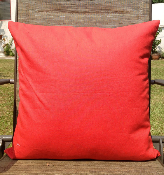 50% OFF Sale Orange Solid Cushion Cover 18x18 -throw pillow, decorative cushion, accent pillow