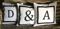 30% OFF 2016 home decor trends, Big floor pillows for kids, Euro Monogram pillows white pillows, White Pillows, 2016 Pillow Covers, 26x26