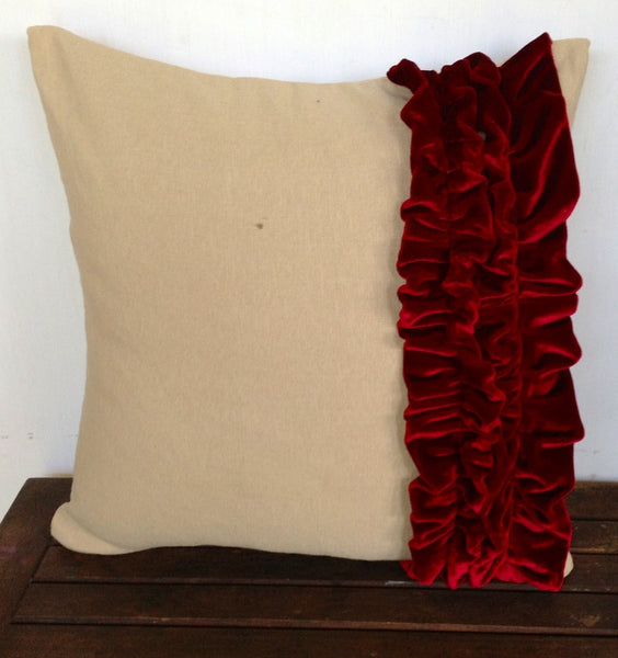 50% OFF Sale Handmade Pillows, Womens gift, Unique gifts for her, Ruffles throw pillow-16 x 16 gift throw pillow, Dorm Decor