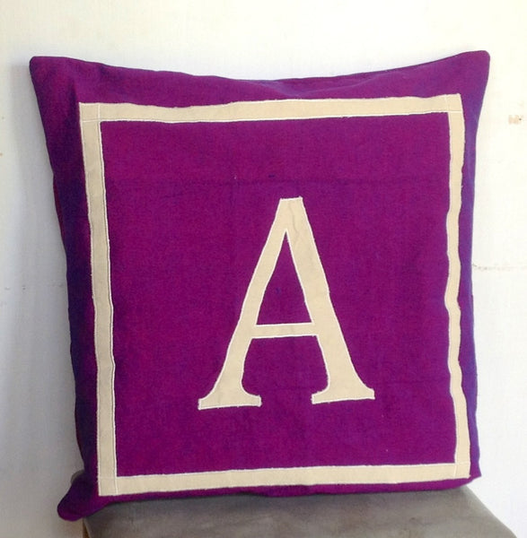 30% OFF Euro Pillows Monogram Personalized monogramed 26 inch purple shams -customized letter cushion cover-floor cushions