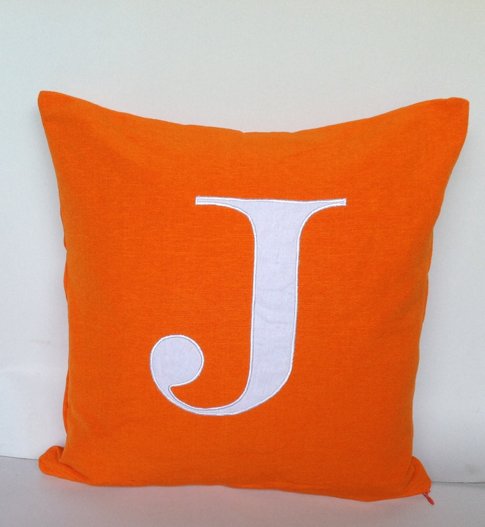 Euro Sham 24 inches Monogram Covers Made to Order 24 inches personalized monogram pillow cover