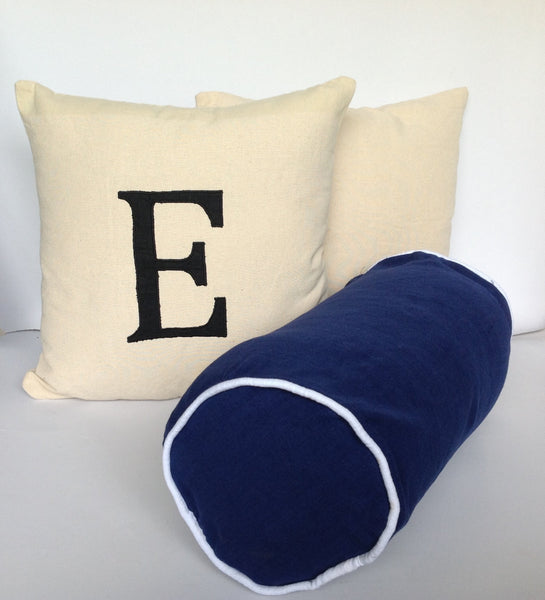 One Monogram Pillow cover 16 inch, One Custom Bolster Pillow Cover, One solid Cover 16 inches, Spring Decor