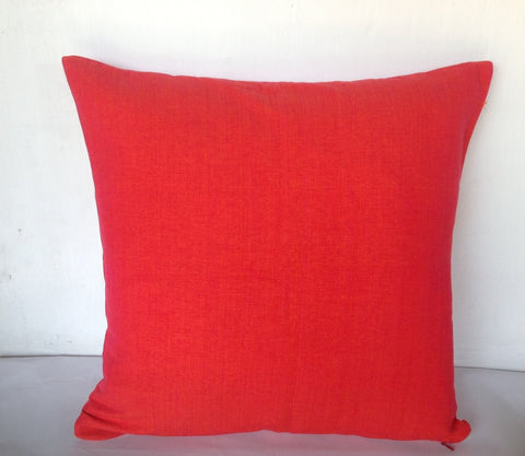 50% OFF Sale Coral cotton pillow cover 18x18 inches-Decorative House Decor, coral decorative cushion cover