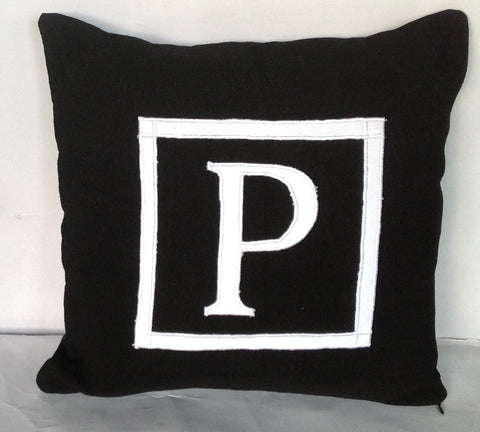 30% OFF Customized Monogrammed pillow cover 16 inches, custom letter cushion-alphabet throw pillow-sofa pillow cotton 16x16