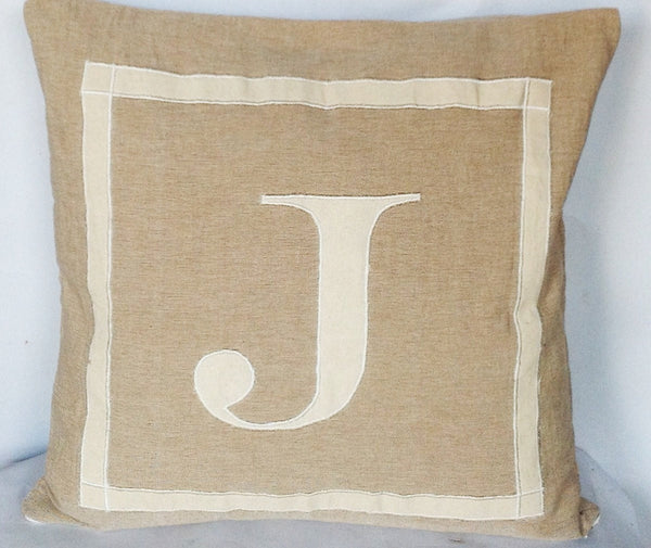 30% OFF Beige sofa pillow covers , Monogram Neutral Personalized Throw pillow-20x20 Beige Pillows, Neutral Throw Pillows