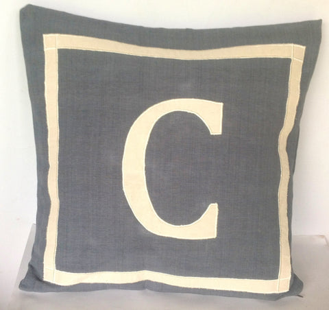 30% OFF Gray personalized monogram throw pillow cover, Gray customized letter cushion 18x18, Gray Sofa Home Decor, Grey Monogram Pillows