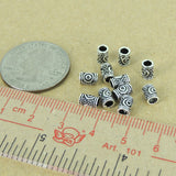 12 PCS 925 Sterling Silver Bead Barrel Vintage DIY Jewelry Making WSP372X12 Wholesale: See Discount Coupons in Item Details