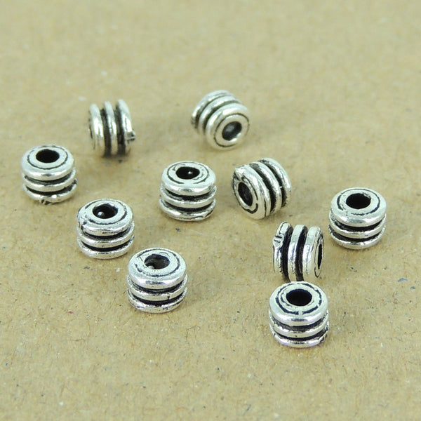 10 PCS 925 Sterling Silver Beads Spacers Vintage DIY Jewelry Making WSP373X10 Wholesale: See Discount Coupons in Item Details