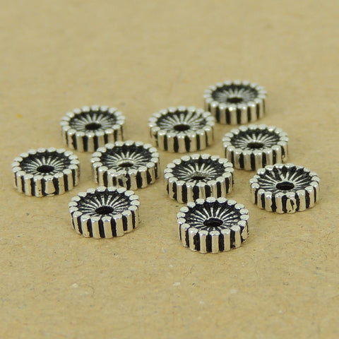 10 PCS 925 Sterling Silver Spacers Vintage WSP398X10 Wholesale: See Discount Coupons in Item Details