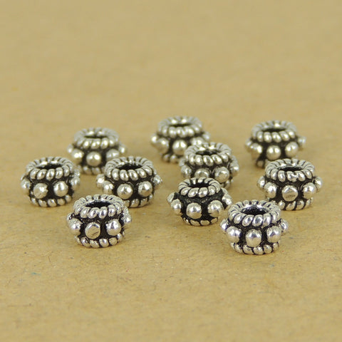 10 PCS 925 Sterling Silver Spacers Beads Vintage WSP397X10 Wholesale: See Discount Coupons in Item Details