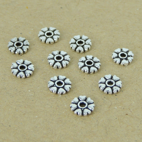 10 Pcs 925 Sterling Silver Spacers Vintage Love Heart WSP401X10 Wholesale: See Discount Coupons in Item Details