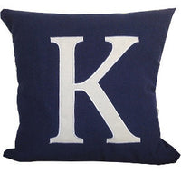 Initial Pillow, Personalized Gifts, Monogram pillows, 22 inches Euro Sham Covers Made to Order 60cmx60cm- Customized Monogram throw pillow-