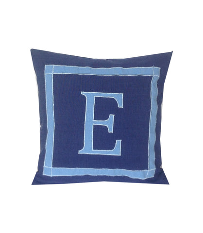 30% OFF Navy Blue Pillow Covers, Personalized Monogram 24 inches square pillows, customized cushion cover-cotton sofa pillow