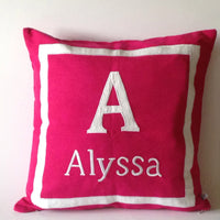 30% OFF Baby Personalized Gifts, Nursery Decor Girl, Nursery Bedding, Dark Pink Pillows, Pink Monogram Pillows, Pink Name pillows, Baby show