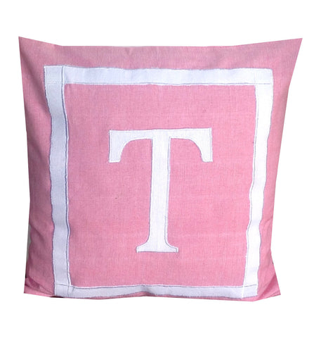 30% OFF Monogram Nursery pillows, Pink Throw Pillows, Nursery monogram pillow-pink and white throw Pillows -18x18 inches -baby shower gift