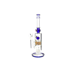 Large 4Smoke Multi Colour Percolator Bong 1510 - 2694