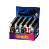 50 x 4Smoke Electronic Printed Lighters - YZ218DK